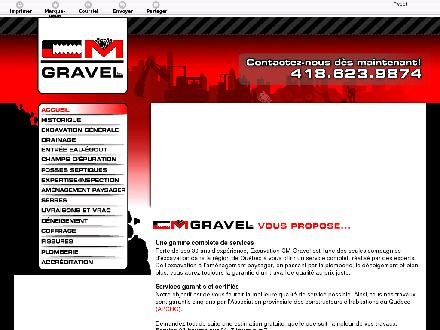Excavation C M Gravel Inc (581-700-1400) - Website thumbnail - http://cmgravel.com