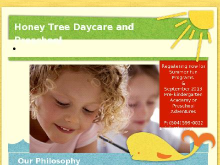 Honey Tree Daycare & Preschool (604-599-0832) - Onglet de site Web - http://www.honeytree.ca