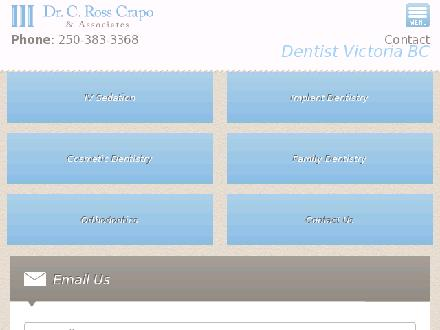 Crapo C Ross Dr Inc (250-414-8287) - Onglet de site Web - http://www.drcrapo.ca