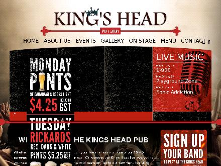 The King's Head Pub (403-259-0111) - Onglet de site Web - http://www.thekingsheadpub.ca