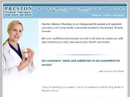 Preston Medical Pharmacy (519-653-1994) - Website thumbnail - http://www.prestonmed.on.ca