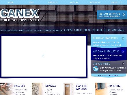 Canex Building Supplies Ltd (604-824-3736) - Onglet de site Web - http://www.canexbuilding.com