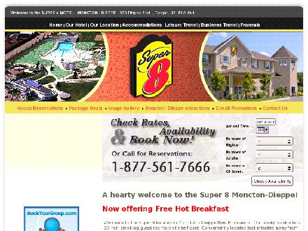 Super 8 (506-801-9484) - Website thumbnail - http://www.super8moncton.com