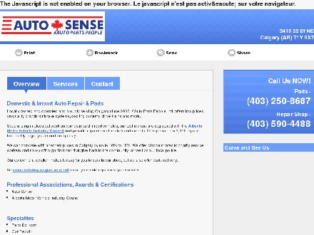 Auto Sense Auto Parts (403-250-8687) - Website thumbnail - http://aautopartspeople.ca