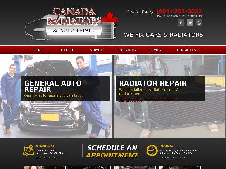 Canada Radiators &amp; Automotive Centre (604-251-3022) - Website thumbnail - http://www.canadaradiators.com
