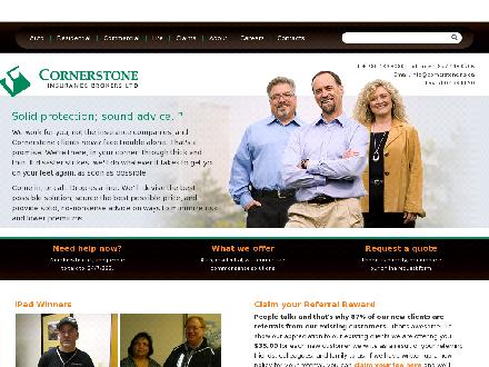 Cornerstone Insurance Brokers Ltd (780-424-2676) - Onglet de site Web - http://www.cornerstoneins.ca
