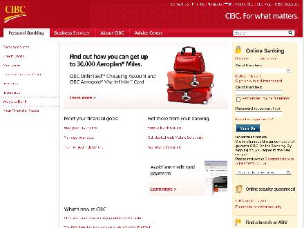 Cibc.com - Onglet de site Web - http://www.cibc.com