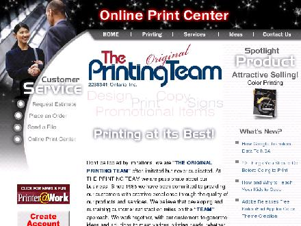 Printing Team The (905-282-0060) - Onglet de site Web - http://www.theprintingteam.ca