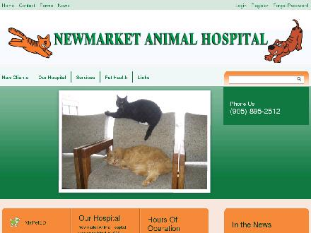 Newmarket Animal Hospital (905-895-2512) - Website thumbnail - http://www.newmarketanimalhospital.ca
