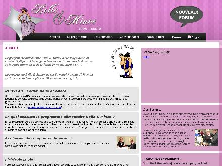 Belle et Mince (Jolodium) (450-753-0868) - Onglet de site Web - http://belleetmince.qc.ca