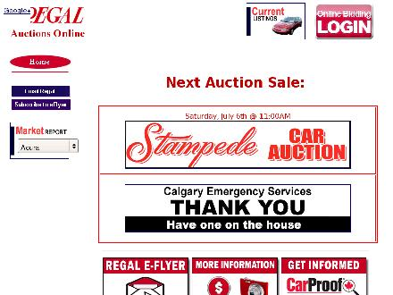 Regal Auctions Ltd (403-250-1995) - Website thumbnail - http://www.regalauctions.com