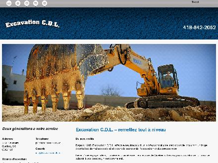 Excavation C D L (418-842-2052) - Onglet de site Web - http://excavationcdl.ca/