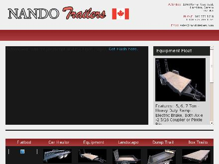 Nando Trailers Manufacturing And Hitches (905-575-1218) - Website thumbnail - http://www.nandotrailers.com