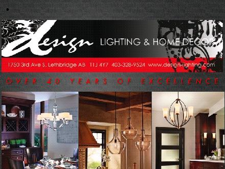 Design Lighting & Home Decor (403-359-9001) - Onglet de site Web - http://www.design-lighting.ca