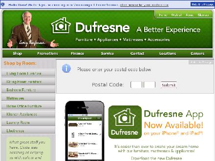 Dufresne Furniture & Appliances (204-989-9900) - Onglet de site Web - http://www.dufresne.ca