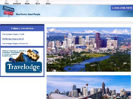 Travelodge Calgary South (403-253-1111) - Website thumbnail - http://travelodgecalgary.net