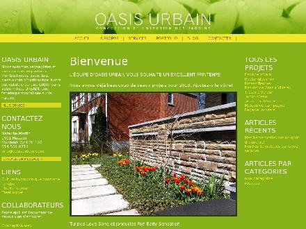 Oasis Urbain (514-569-0716) - Onglet de site Web - http://www.oasisurbain.com
