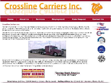 Crossline Carriers Inc (403-720-6619) - Website thumbnail - http://www.crosslinecarriers.com
