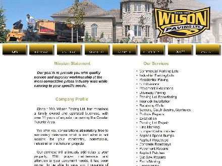 Wilson Paving Ltd (905-435-3429) - Website thumbnail - http://www.wilsonpaving.ca