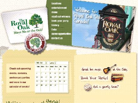Royal Oak Restaurant (613-236-0190) - Website thumbnail - http://www.royaloakpubs.com