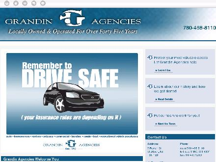 Grandin Agencies (780-460-9751) - Onglet de site Web - http://www.grandinagencies.ca