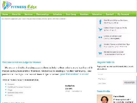 Fitness Edge for Women (204-255-6600) - Website thumbnail - http://www.fitnessedge.ca