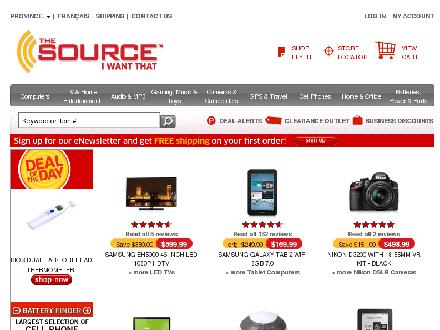 Thesource.ca - Onglet de site Web - http://www.thesource.ca