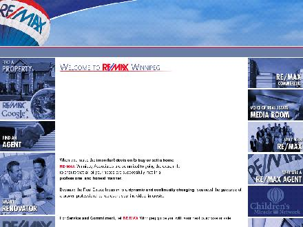 Re/Max - Onglet de site Web - http://www.remax-winnipeg.com