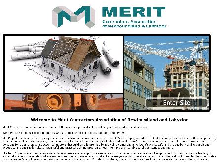 Merit Contractors Association of NL (709-576-3748) - Website thumbnail - http://www.merit-nl.ca