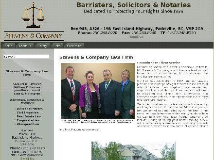 Stevens & Co Lawyer (250-248-8220) - Website thumbnail - http://www.stevensandcompanylaw.com