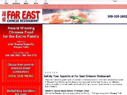Far East Restaurant (905-356-2462) - Website thumbnail - http://fareastrestaurant.net