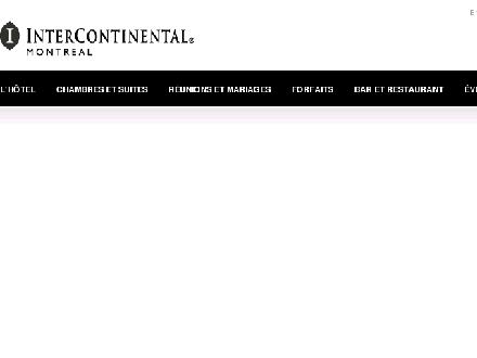 InterContinental Montreal (514-987-9900) - Website thumbnail - http://www.montreal.intercontinental.com