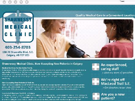 Shawnessy Medical Clinic (403-254-8703) - Website thumbnail - http://shawnessymedicalclinic.com/