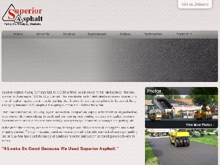 Superior Asphalt Paving Co (204-254-3737) - Onglet de site Web - http://www.superiorasphaltpaving.ca