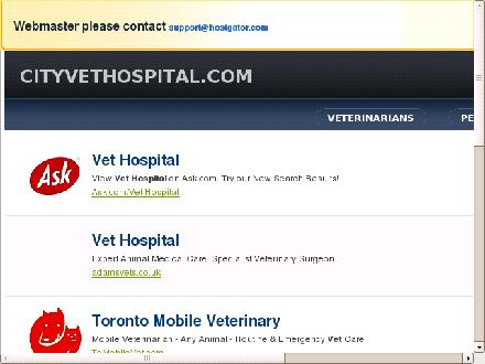 City Veterinary Hospital (403-529-2525) - Website thumbnail - http://www.cityvethospital.com