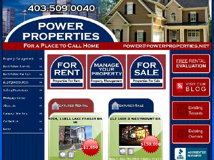 Power Properties (403-213-9149) - Onglet de site Web - http://www.powerproperties.net