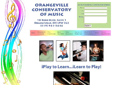 Ontario Conservatory Of Music (519-941-3616) - Onglet de site Web - http://www.orangevillemusic.ca