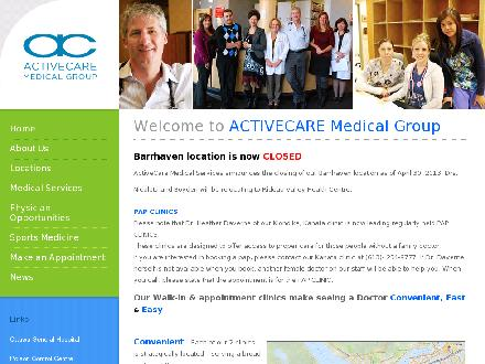 ActiveCare Medical Clinics (613-254-9777) - Onglet de site Web - http://www.activecareclinics.ca