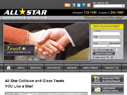 All Star Collision & Glass Ltd (204-772-1100) - Onglet de site Web - http://www.allstarcollision.ca