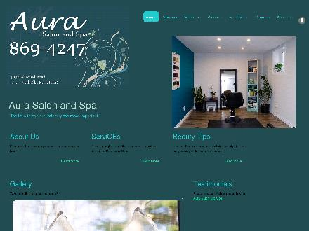 Aura Salon &amp; Spa (902-869-4247) - Website thumbnail - http://www.aura-salonspa.com