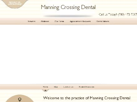 Manning Crossing Dental Center (780-473-7317) - Onglet de site Web - http://www.manningcrossingdental.com
