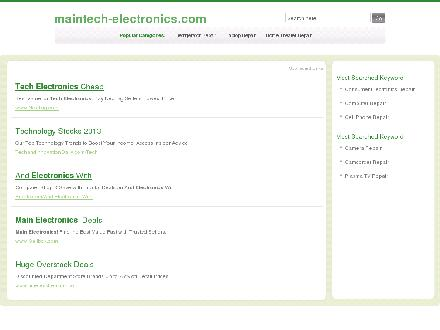 Maintech Electronics (403-285-7274) - Website thumbnail - http://www.maintech-electronics.com/services.php