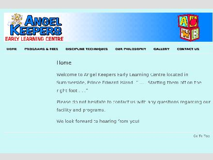 Angel Keepers Early Learning Centre (902-436-8953) - Onglet de site Web - http://angelkeepers.ca