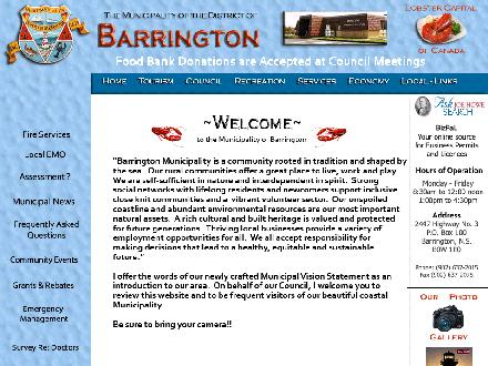 MUNICIPALITY OF BARRINGTON (742-9767) - Onglet de site Web - http://www.barringtonmunicipality.com