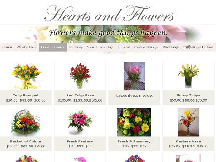 Hearts And Flowers Florist (1-888-995-5967) - Website thumbnail - http://www.heartsandflowers.ca