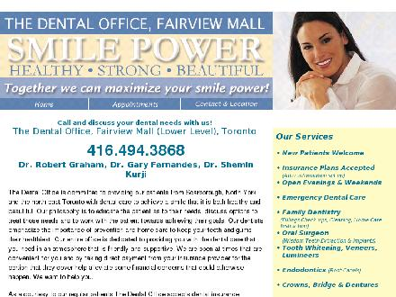 The Dental Office Fairview Mall (647-977-0934) - Website thumbnail - http://www.thedentaloffice-fairviewmall.com