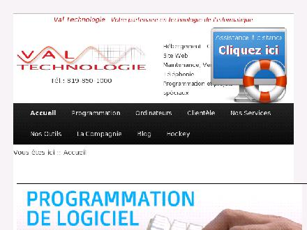 Val Technologie (819-850-1000) - Website thumbnail - http://www.valtechnologie.com