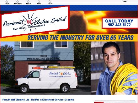 Provincial Electric Limited (902-443-8172) - Website thumbnail - http://provincialelectricltd.ca