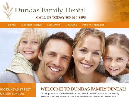 Dundas Family Dental (905-315-9898) - Onglet de site Web - http://www.dundasfamilydental.com