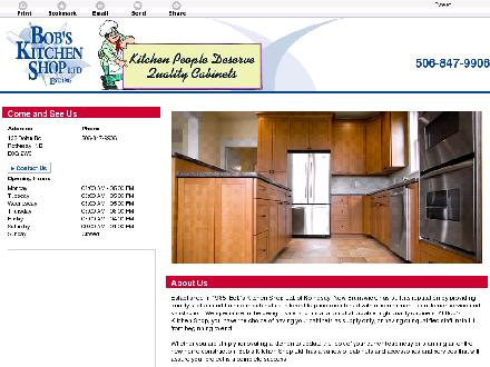 Bob's Kitchen Shop Ltd (506-847-9906) - Website thumbnail - http://bobskitchenshop.ca/